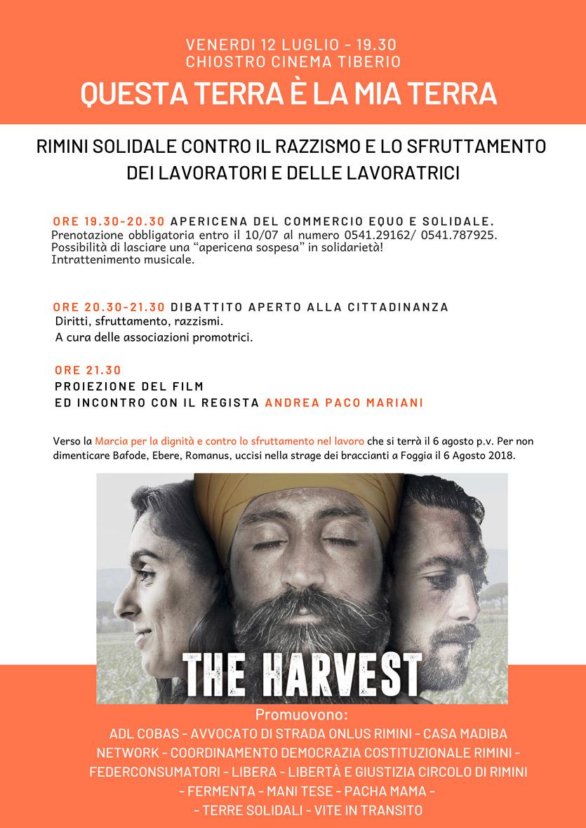 The Harvest - Cinema Teatro Tiberio